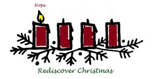 first candle of advent is lit. Candle of Hope
