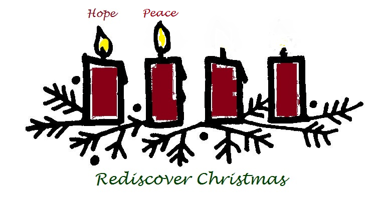 advent candles Peace and hope are lit